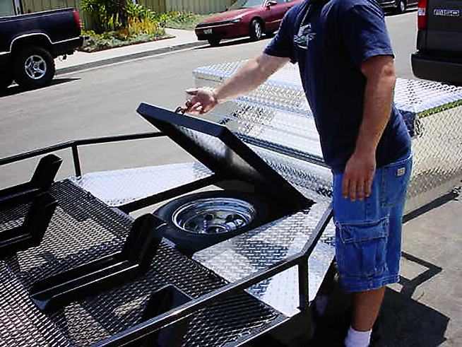 SHAD MC Motorcycle Trailer Black - Shadow Trailers Cypress, CA