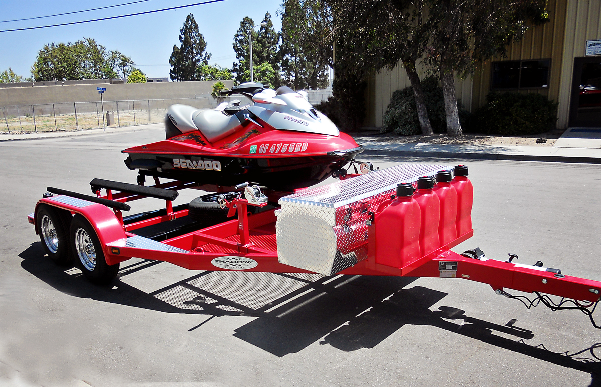 Custom Double Pwc Trailer Red Shadow Trailers