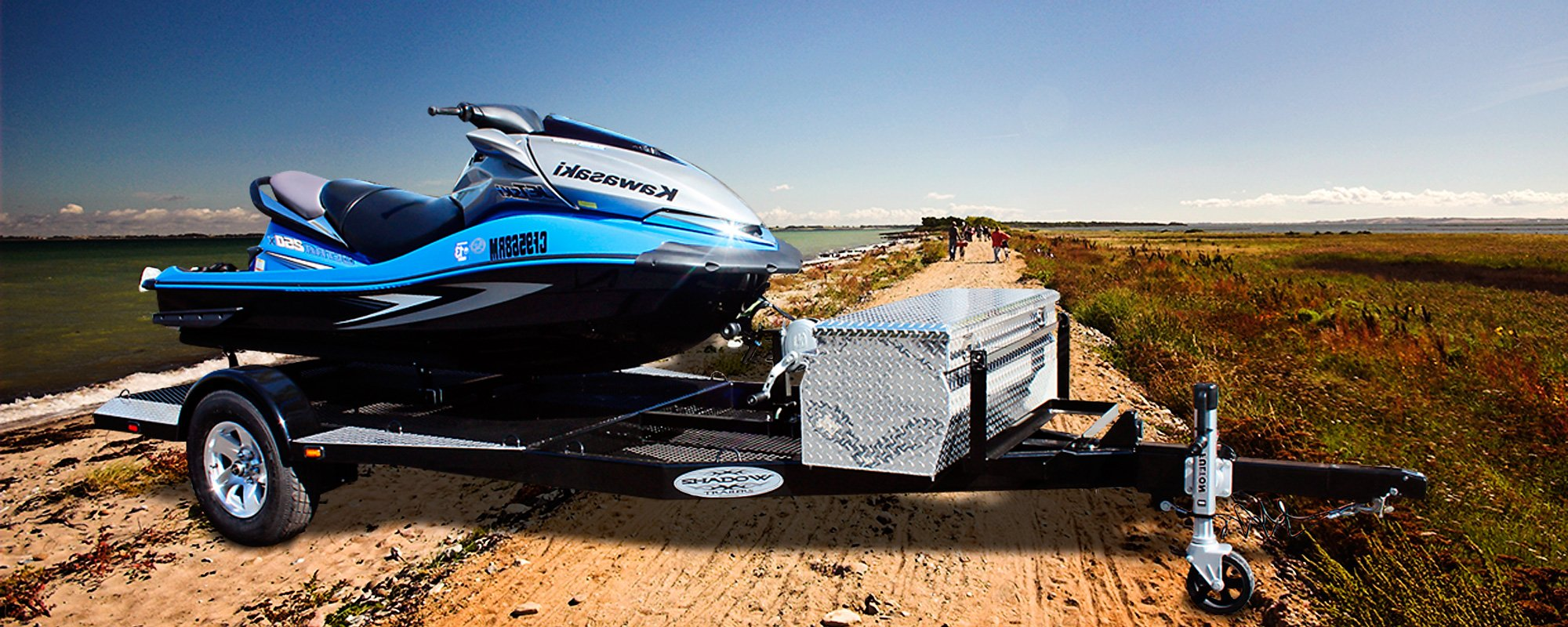 Custom Single Watercraft Trailer by Shadow Trailers, Cypress, CA