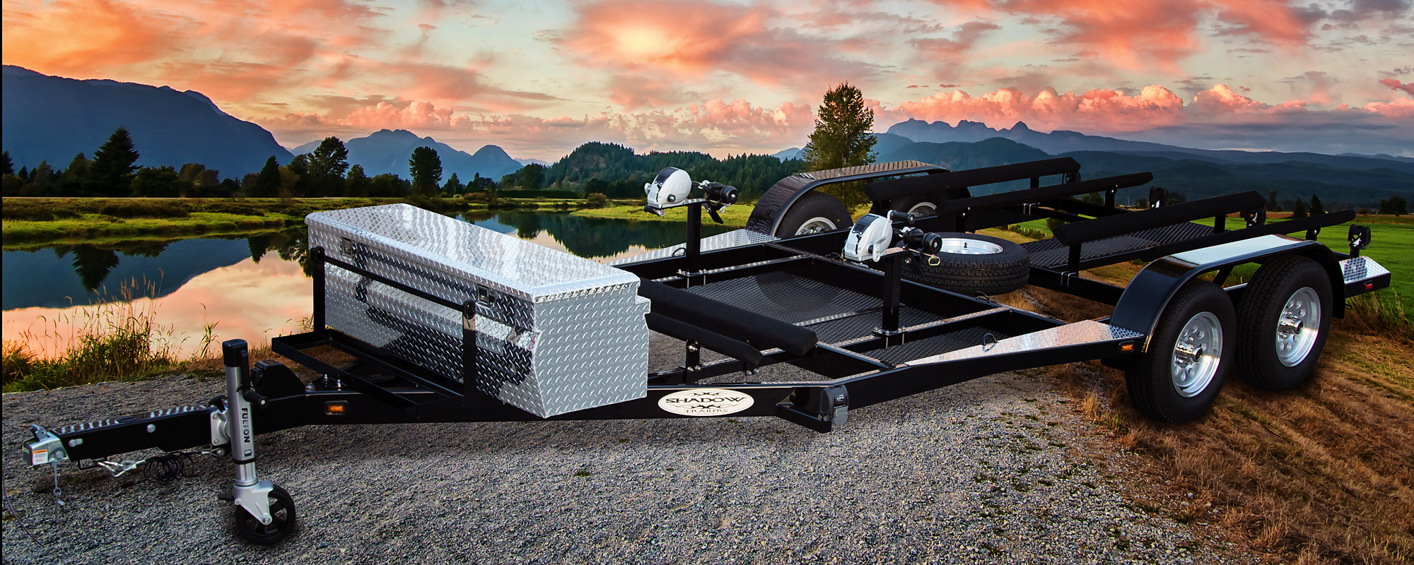 Custom 3-Place Watercraft Trailer by Shadow Trailers, Cypress, CA