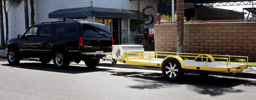 2013 Custom Built SHAD Flatebed Trailer, Powder Coated Yellow