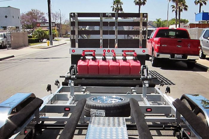 6 Can Gas Rack Trailer Option - Shadow Trailers