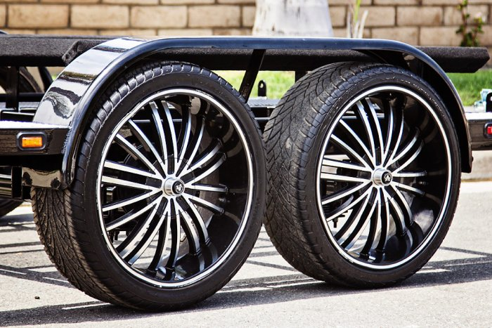 Custom Trailer Wheels Option - Shadow Trailers, Cypress, CA