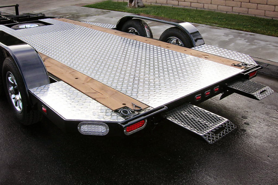 Custom Flatbed Trailer Black, Shadow Trailers