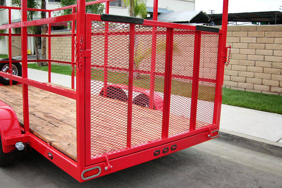 Custom Red Utility Trailer - Shadow Trailers