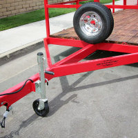 Shadow Custom Flatbed Trailer, Powder Coated Red