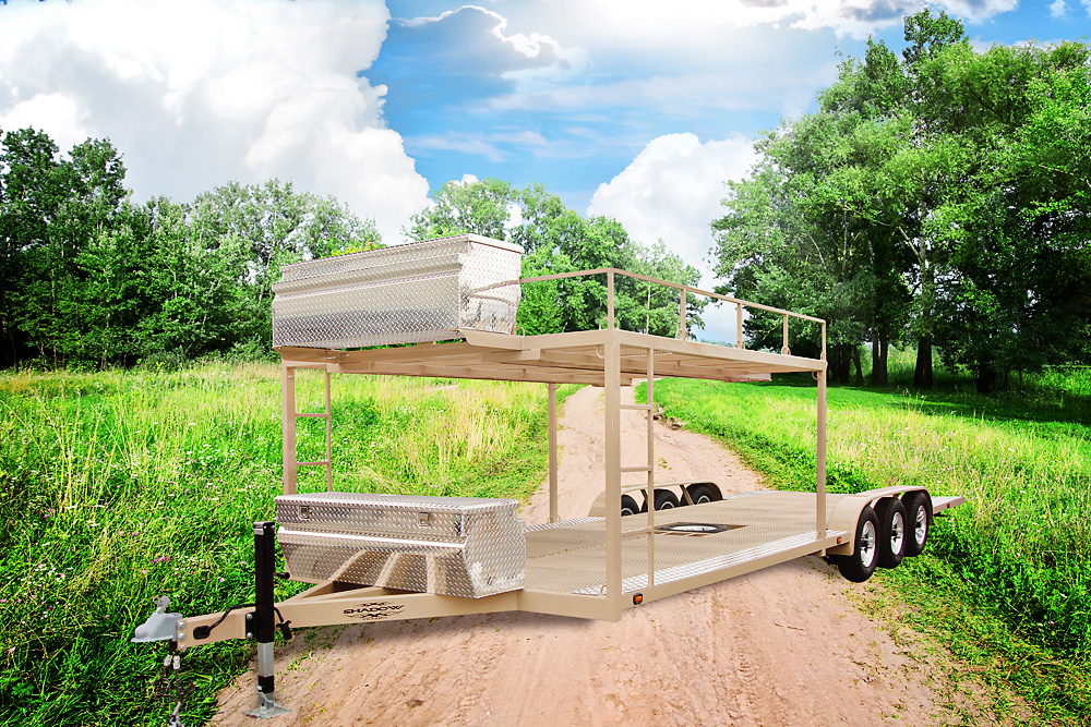 Custom Utility Trailer with Overhead Rack - Shadow Trailers