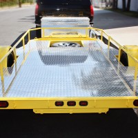 Full Polished Aluminum Diamond Plate Deck with Spare Tire Location.