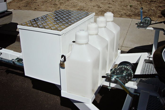 4 Can Gas Rack Trailer Option - Shadow Trailers