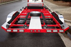 SHAD 4 Place Jet Ski Trailer - Powder Coated Red - Shadow Trailers