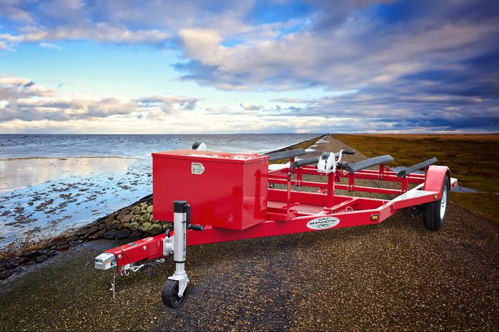 SHAD 2 Double Jet Ski Trailer - Red - Shadow Trailers