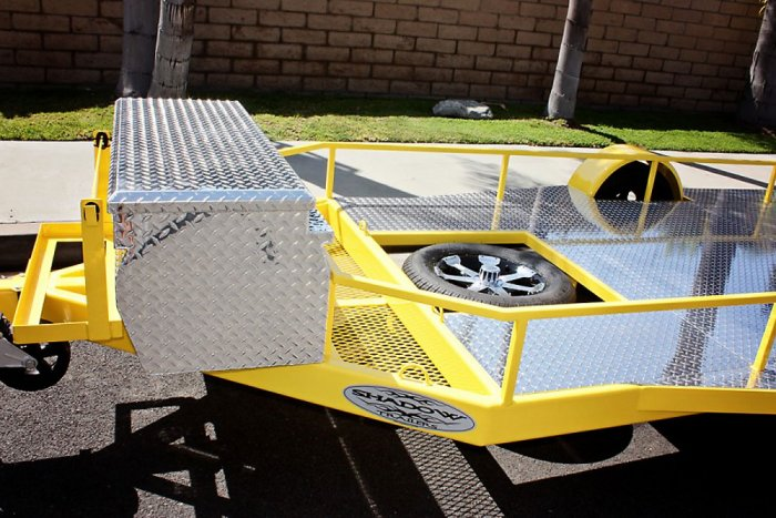 Motorcycle Rail Trailer Option - Shadow Trailers